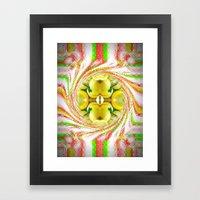 Lemon Swirl 1 Framed Art Print