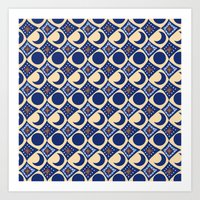 Blue Moon Diamonds Art Print