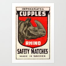 Rhino - Matchbox Art Print