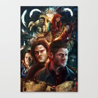Family Don't End With Bl… Canvas Print
