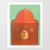 Oscar The Bear Art Print