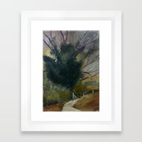 English Tree Study Framed Art Print