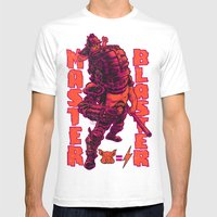 THUNDERDOME: MASTER BLASTER Mens Fitted Tee White SMALL