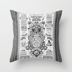 Legend of Zelda inspired Deku Nuts Vintage Advertisement Throw Pillow