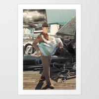 The Rescuer. Art Print