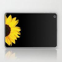 colored summer ~ sunflower black Laptop & iPad Skin