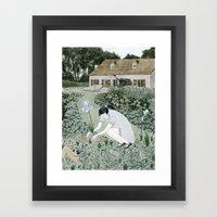 Planting Irises Framed Art Print