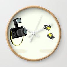 Camera & Film Wall Clock