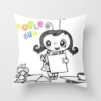 Doodle Bug Throw Pillow