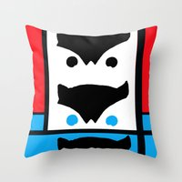 Modern Watcher Throw Pillow