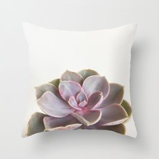 Purple Succulent Throw Pillow