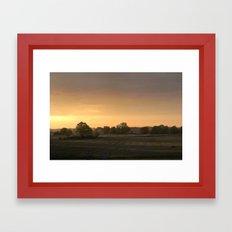 Sunrise in August Framed Art Print
