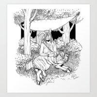 A Temporary Shelter (B&W… Art Print
