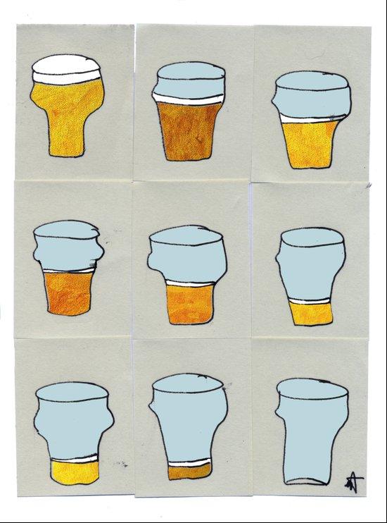 Beer diary. Art Print