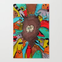 Us And Them 1 Canvas Print