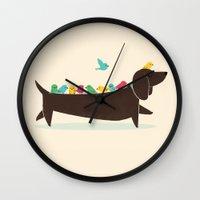 Bird Dog Wall Clock