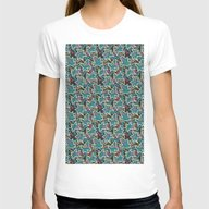 Pop Art Womens Fitted Tee White SMALL