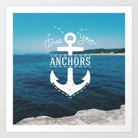 Free Your Anchors Art Print