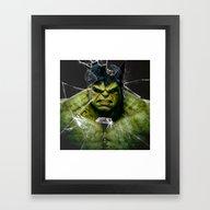 Angry HULK  Framed Art Print