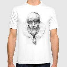 homeless hipster Mens Fitted Tee White SMALL