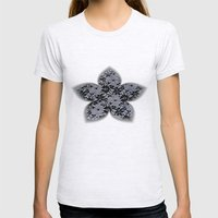 Black Lace Womens Fitted Tee Ash Grey SMALL