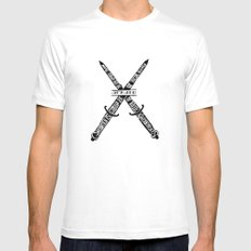 V for Vendetta SMALL Mens Fitted Tee White