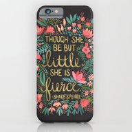 Little & Fierce On Charc… iPhone 6 Slim Case