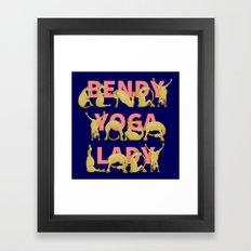Yoga Pony Framed Art Print