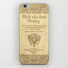 Shakespeare. Much adoe about nothing, 1600 iPhone & iPod Skin