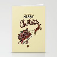 Pugs Christmas Stationery Cards