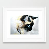 Siamese Cat Framed Art Print