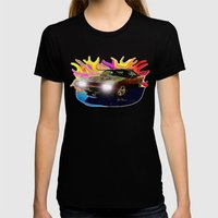 70 Charger Womens Fitted Tee Black SMALL