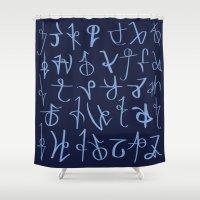 Runes Shower Curtain