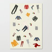 Clothes And Monsters Canvas Print
