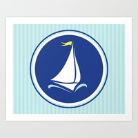 Sailboat Print  Art Print