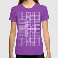 Stained Glass W Womens Fitted Tee Ultraviolet SMALL