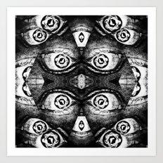 I've got even more eyes on you! Art Print