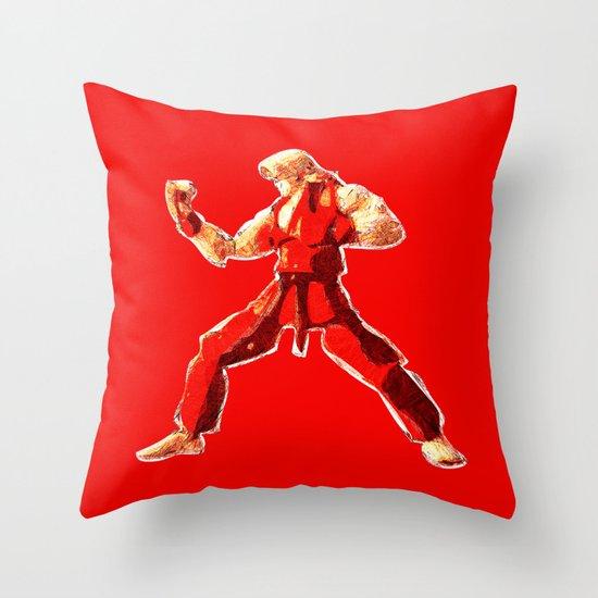 Street Fighter II - Ken Throw Pillow
