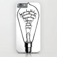 "iPhone & iPod Case featuring Ode to the Bulb - ""keep your lamp"" by SketchbookJack"