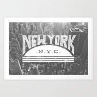 nyc Art Prints featuring NYC by Zeke Tucker