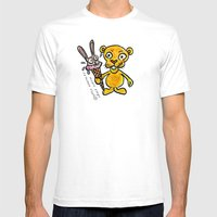 BUNNY CREAM Mens Fitted Tee White SMALL
