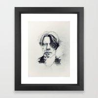 BlackStar. Framed Art Print