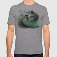 Lazy Cat Mens Fitted Tee Athletic Grey SMALL