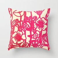 electric flower Throw Pillow