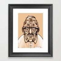Grouchy Framed Art Print