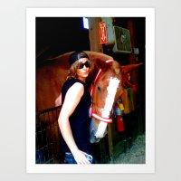 The Horse And I Art Print