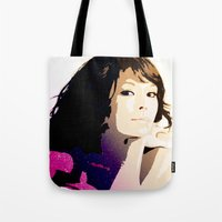 WOMAN AMONG THE STARS Tote Bag
