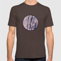 Wood 02 Mens Fitted Tee Brown SMALL