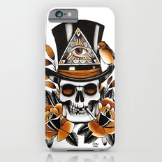 Smoking skull and roses  Slim Case iPhone 6s