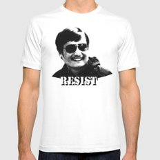 Chen Guangcheng RESIST  Mens Fitted Tee White SMALL